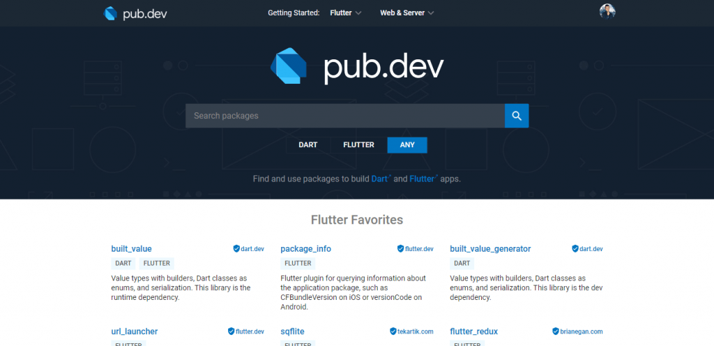 pub.dev is the official website for Flutter and Dart packages. All the packages are open-source and you can use them whenever you like on your project.
