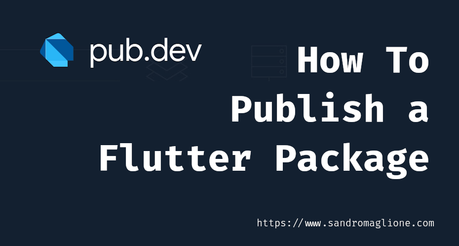 How to publish a Flutter package